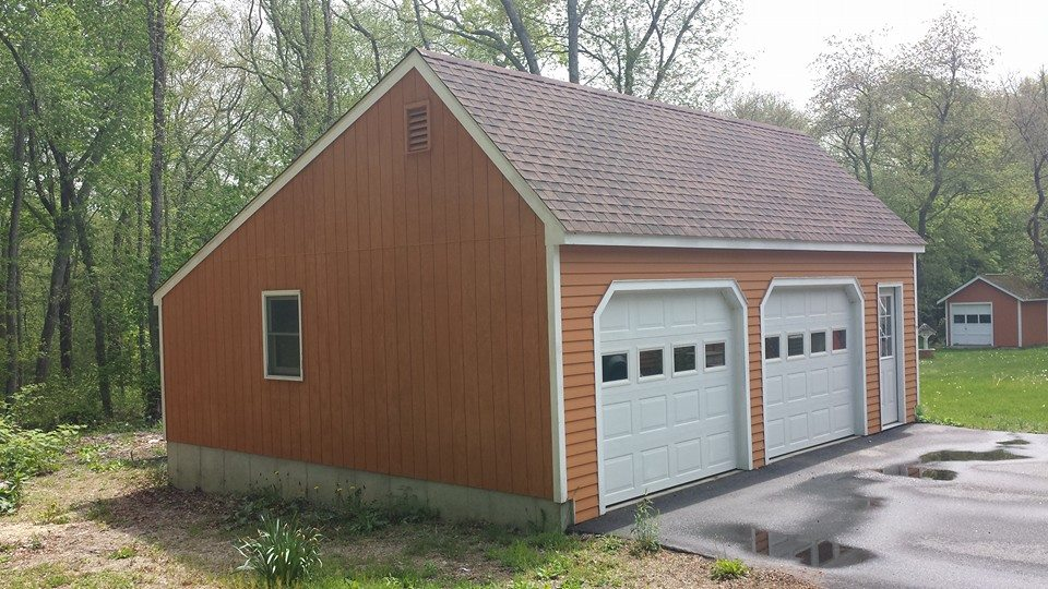 Saltbox Cape Two Car Garage 12
