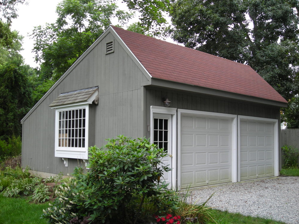 Saltbox Cape Two Car Garage 3