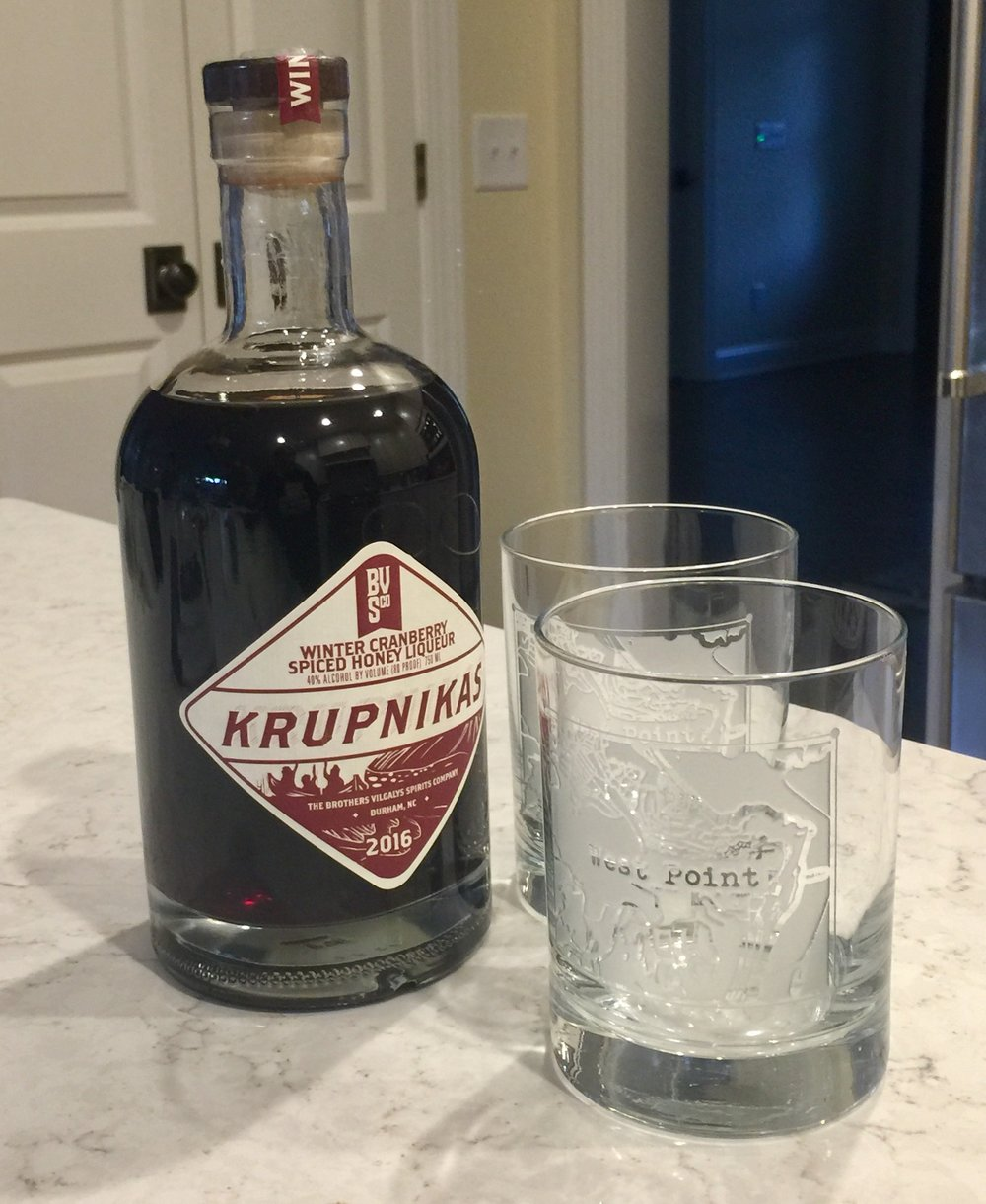 Near-freezing temps meant breaking out some spiced liquor. Cut with ginger ale, it works a treat as the weather turns colder.