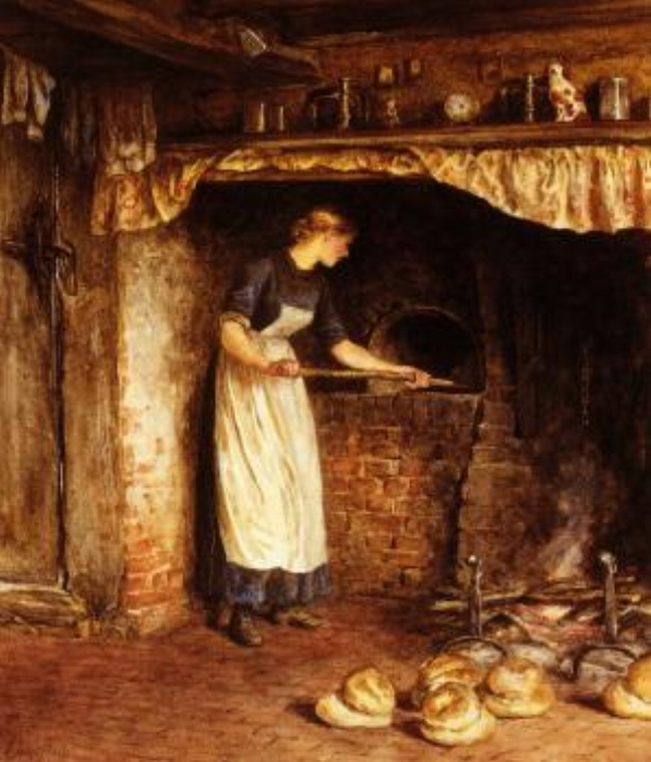 Baking Bread  - Helen Allingham, Date Unknown
