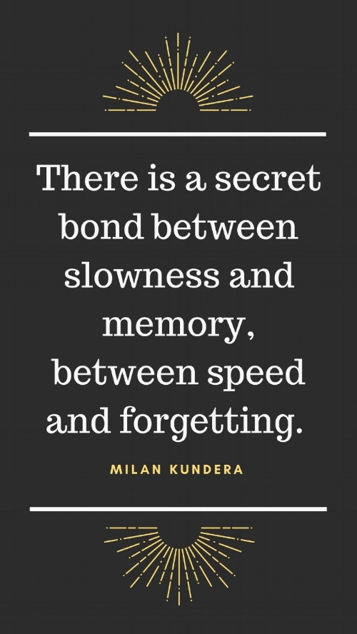 Quote Milan Kundera Slowing Down A Well Spent Day