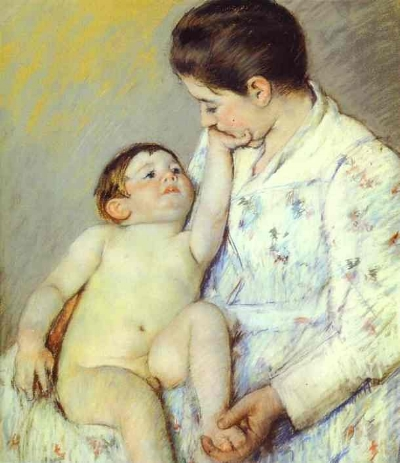 Baby's First Caress   - Mary Cassatt, 1891