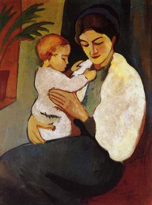 Mother and Child -   Auguste Mack  , 1887-1914