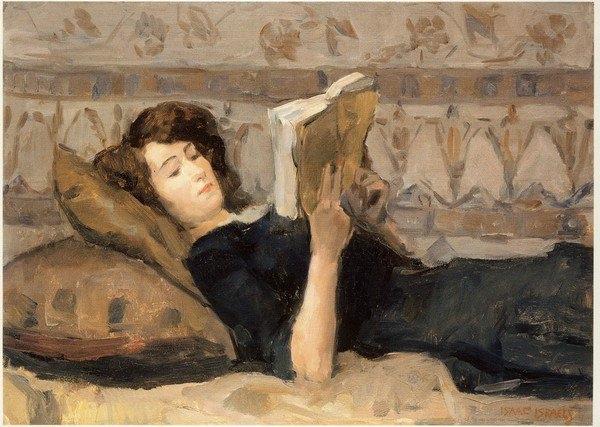 Girl Reading on a Divan  - Isaac Israel, 1920
