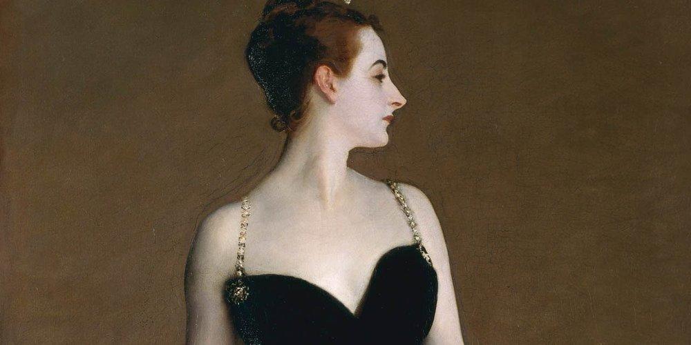 Madame X (detail)  - John Singer Sargent, 1884