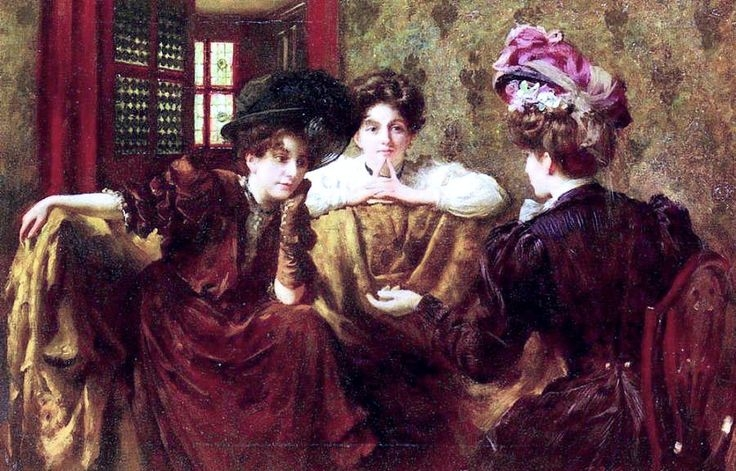 No Gossip   - Thomas Benjamin Kennington, 1907