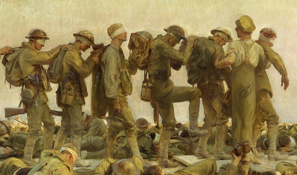 Gassed   - John Singer Sargent, 1919