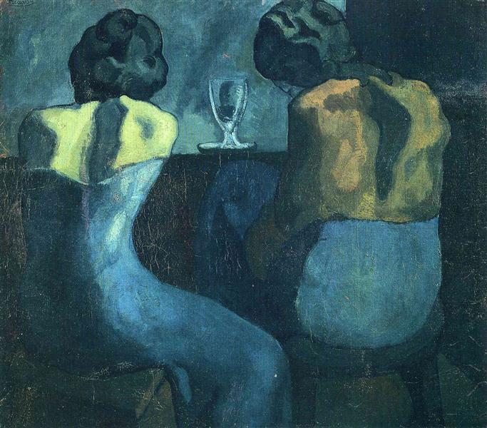Two Women Sitting at a Bar   - Pablo Picasso, 1902