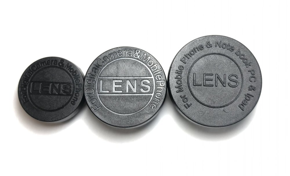 Figure 3:  My three main lenses (from left): 15x macro, 0.6x wide-angle, 0.4 wide-angle/20x macro.