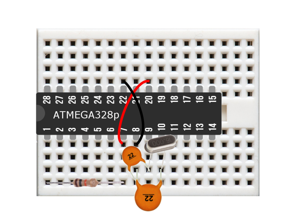 Figure 2: Minimal ATmega328p Arduino -