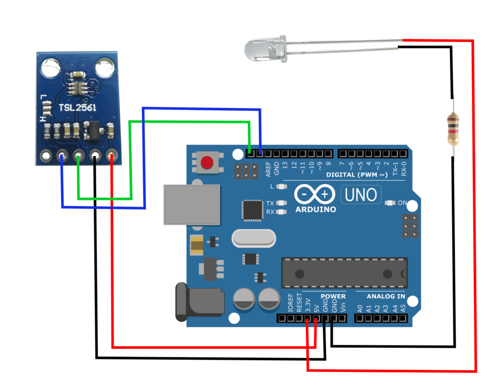 Arduino Light Sensor - TSL2561 and Experiments with Infrared and ...