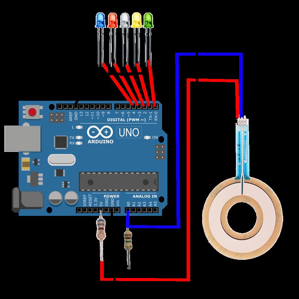 Arduino Softpot Led Meter Membrane Potentiometer Engineers Wiring Diagram Power