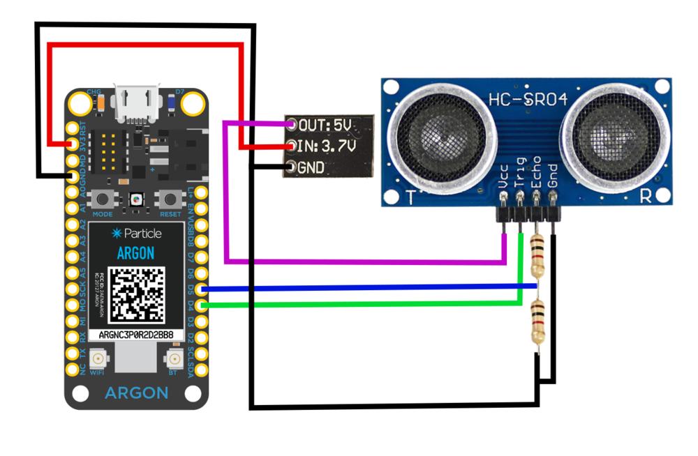 Particle Argon board HC-SR04 wiring for IoT mesh node.png