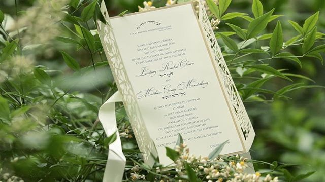 This invitation shot has us looking forward to our upcoming Spring weddings 🌿 #videostill
