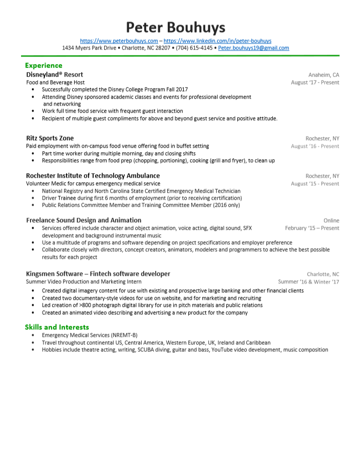 Resume — Peter Bouhuys
