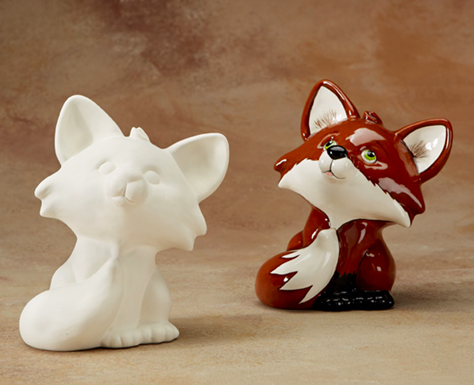 Painting Ceramic Fox -