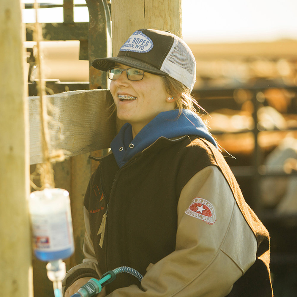"MARIAH TOPP  ""My favorite part of living and working on the ranch is the work ethic we get out here. There's a lot you don't want to do, but you persevere and work your hardest to get it done. You learn how to make fun out of work."""