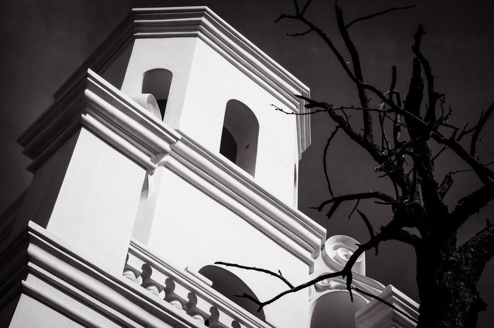 Black and White  Mission St Xavier del bac, Tucson, AZ