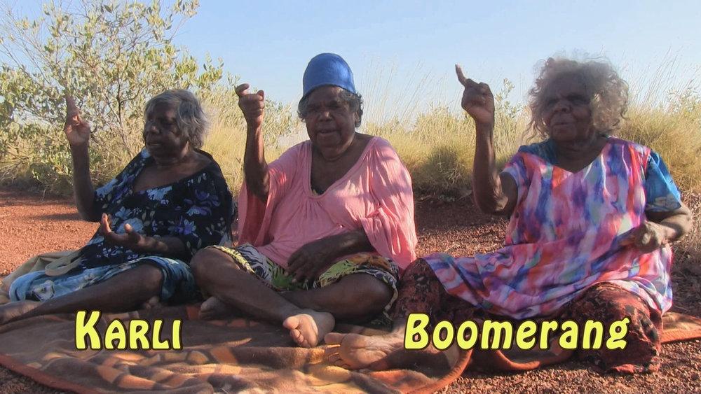 Still from  Marumpu Wangka: Kukatja Hand Talk