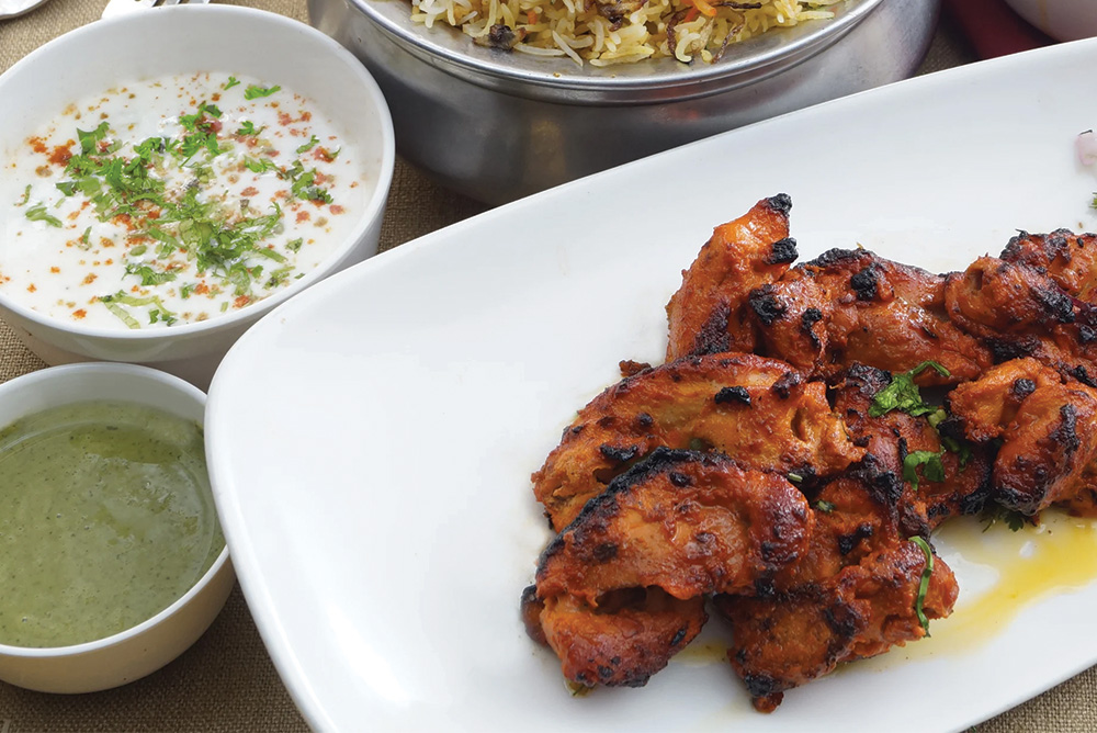 Tandoori Turkey with Lime Mint Raita -