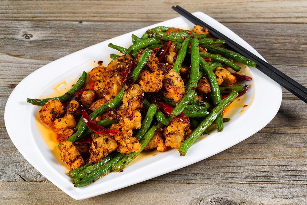 中式四季豆炒火雞肉 -