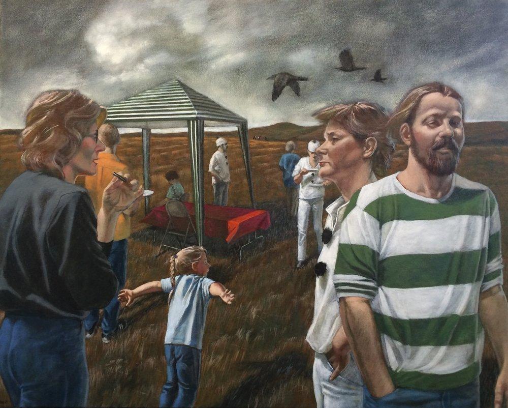 """""""Konza Picnic,"""" by Barbara Waterman-Peters    Barbara Waterman-Peters' Bio"""