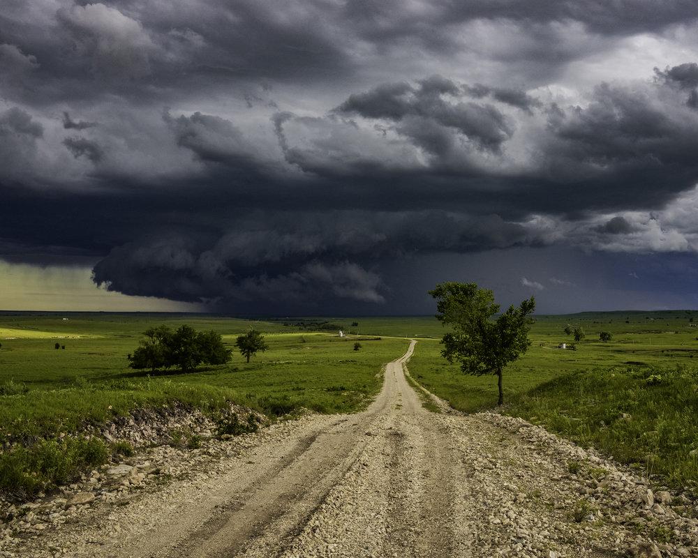 """Storm Beyond Texaco Hill,"" by Carlton Heller"