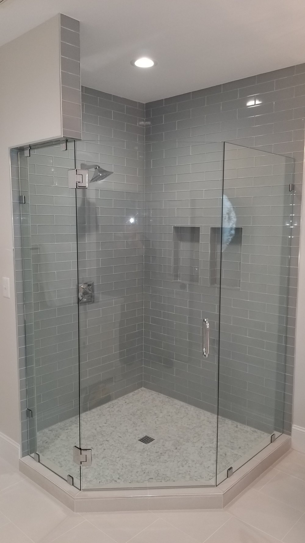 Glass to Glass Neo Angle Shower Enclosure   #CCG