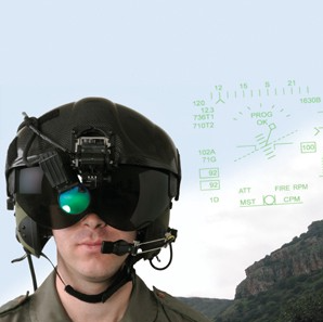 Physiological monitoring integrated with IAF fighter pilot helmets. Photo: Elbit Systems of America
