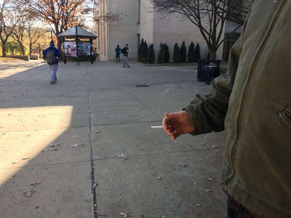 Clearing the smoke - Campus policy doesn't deter smokers