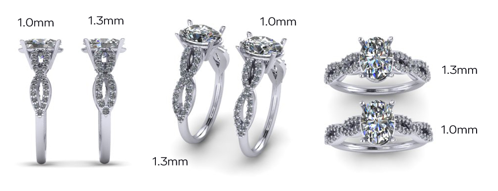 custom lab diamond engagement ring renderings by Ada Diamonds