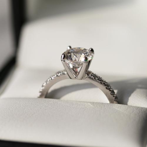 Ada Diamonds Pave Solitaire