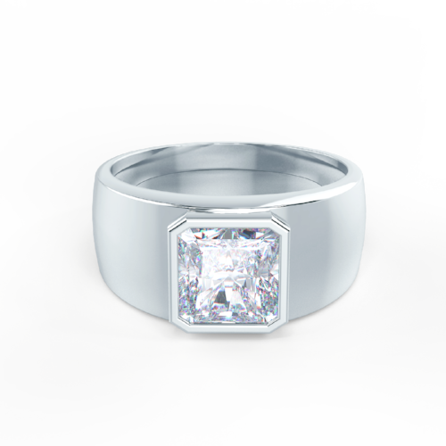 Men's Bezel Set Ring CAD Rendering