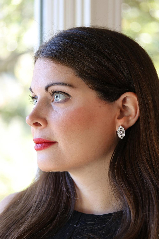 Ada Diamonds custom lab diamond marquise eye stud earrings