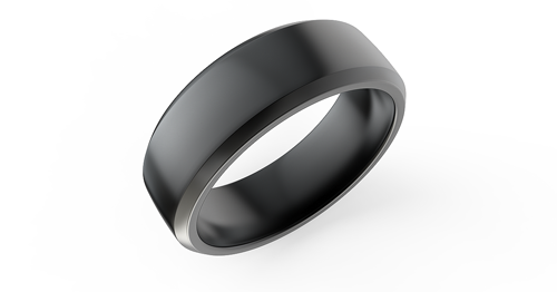 Ada Diamonds mens matte black polydiamond ring