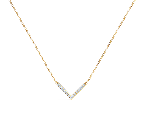 Ada Diamonds fashion lab diamond v necklace