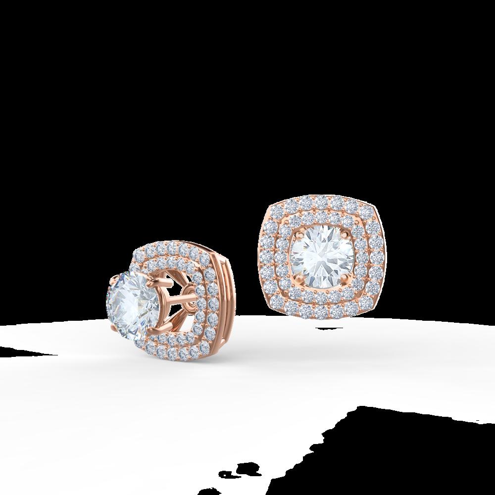 Custom Lab Created Diamond Earring Jackets in Rose Gold