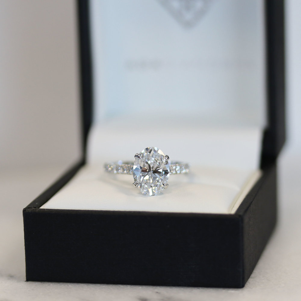 Oval Lab Diamond Engagement Ring