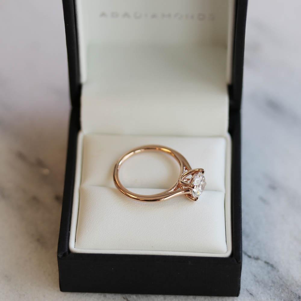 AD-069 Rose Gold Petite Trellis solitaire lab created diamond engagement ring.jpg