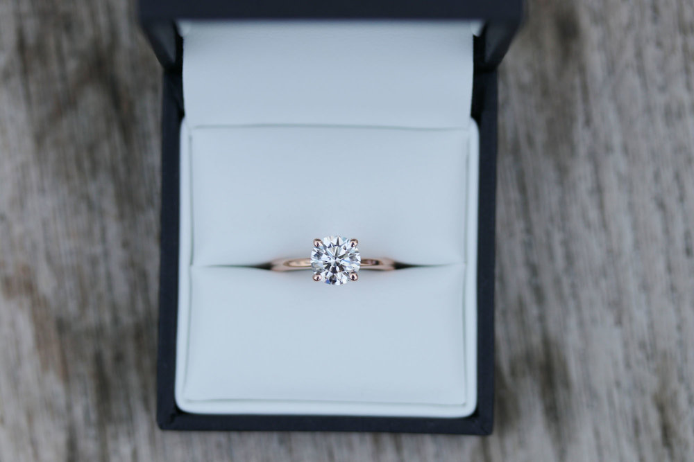 four prong solitaire rose gold lab grown diamond engagement ring.jpg