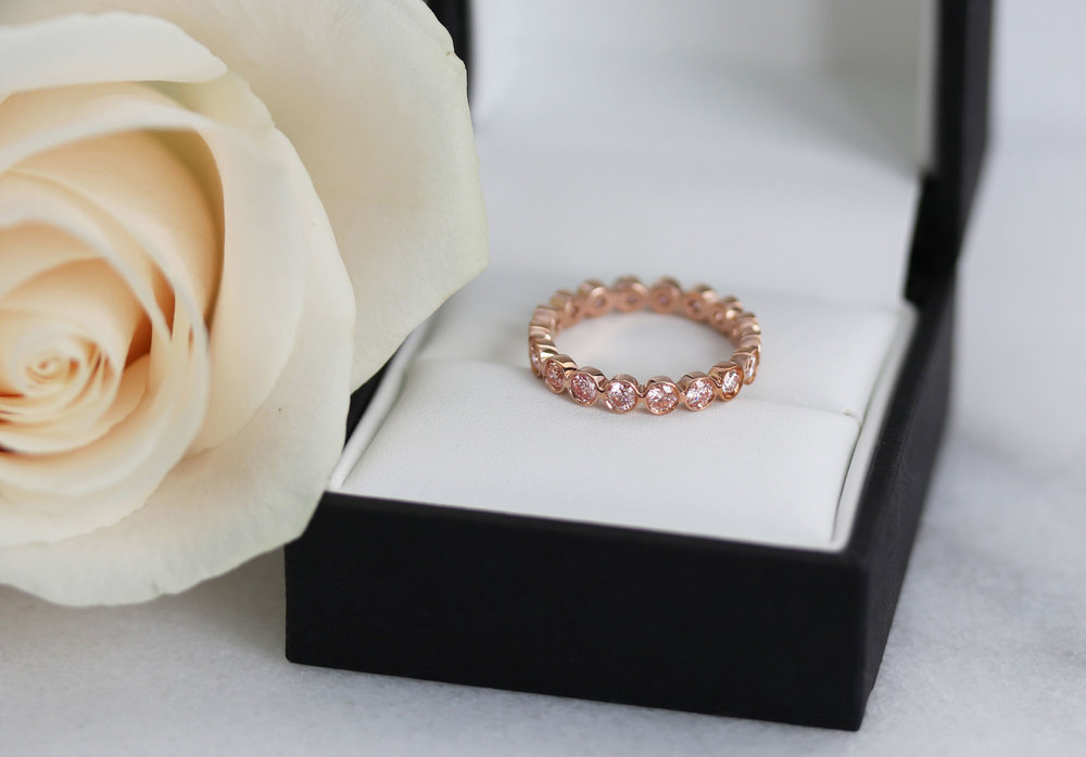 AD-192 Bezel Eternity Band rose gold pink diamond wedding band.jpg