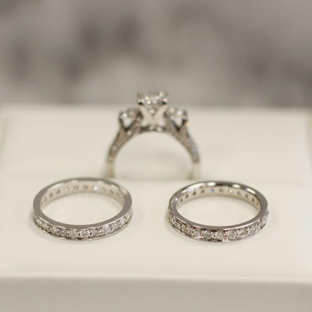 Ada Diamonds Channel Set Anniversary Bands