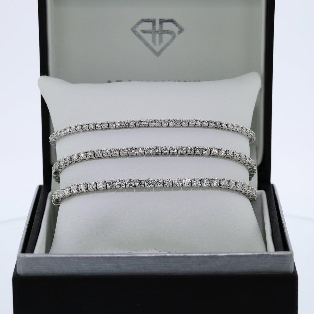 Lab Diamond Tennis Bracelets in  Three Sizes.jpg