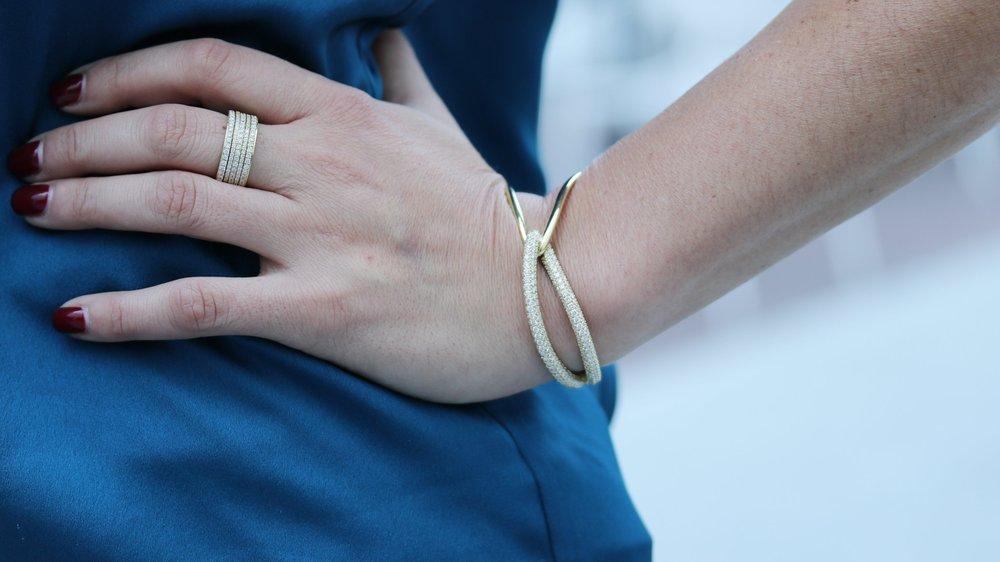 Couture Lab Diamond Cuff Bracelet 18kt Yellow Gold.jpg
