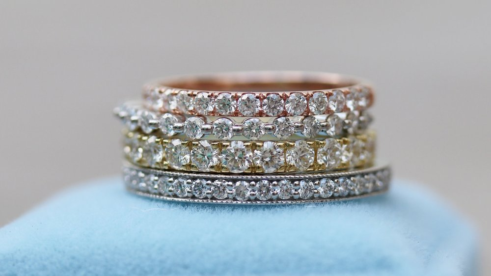 Lab Diamond Eternity Bands Wedding Bands