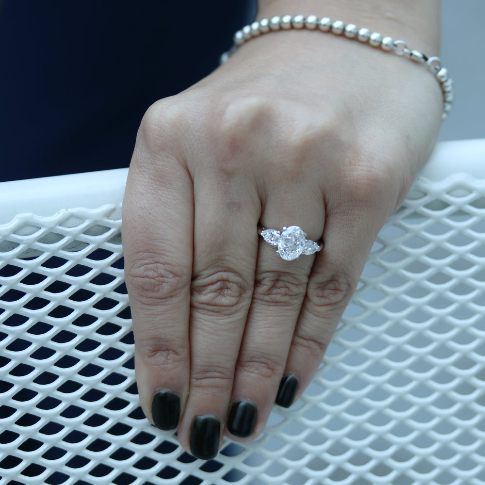 Oval and Pear Engagement Ring