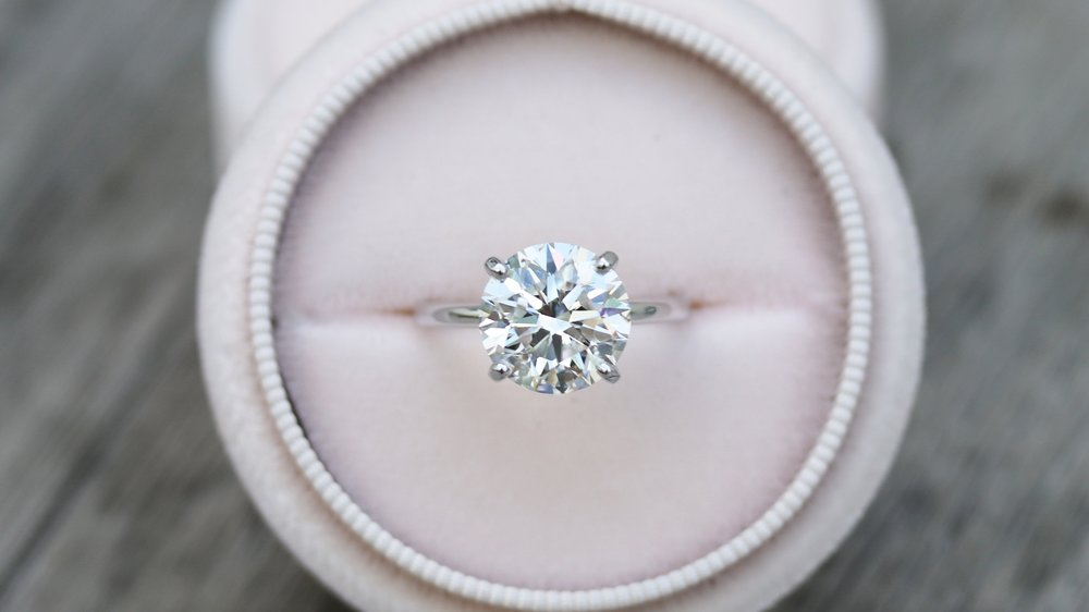 Classic Four Prong Lab Created Diamond Engagement Ring