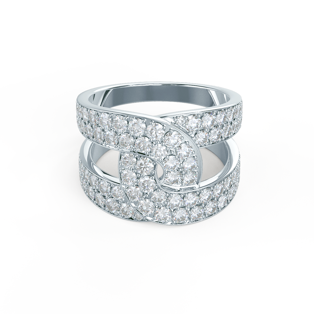 Lab grown diamond fashion ring with interlocking bands