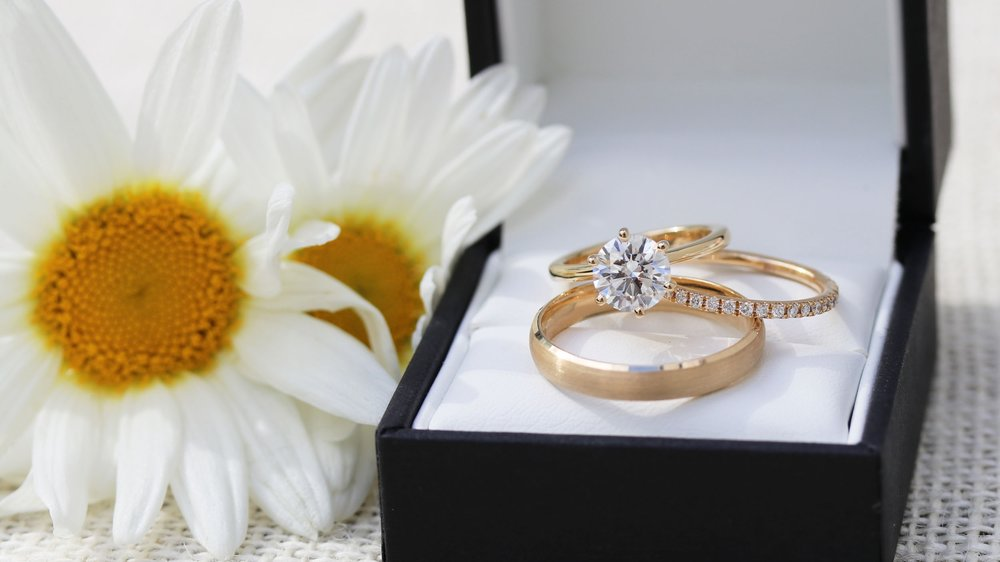 Custom Made His and Hers Lab Created Diamonds Wedding Ring Set