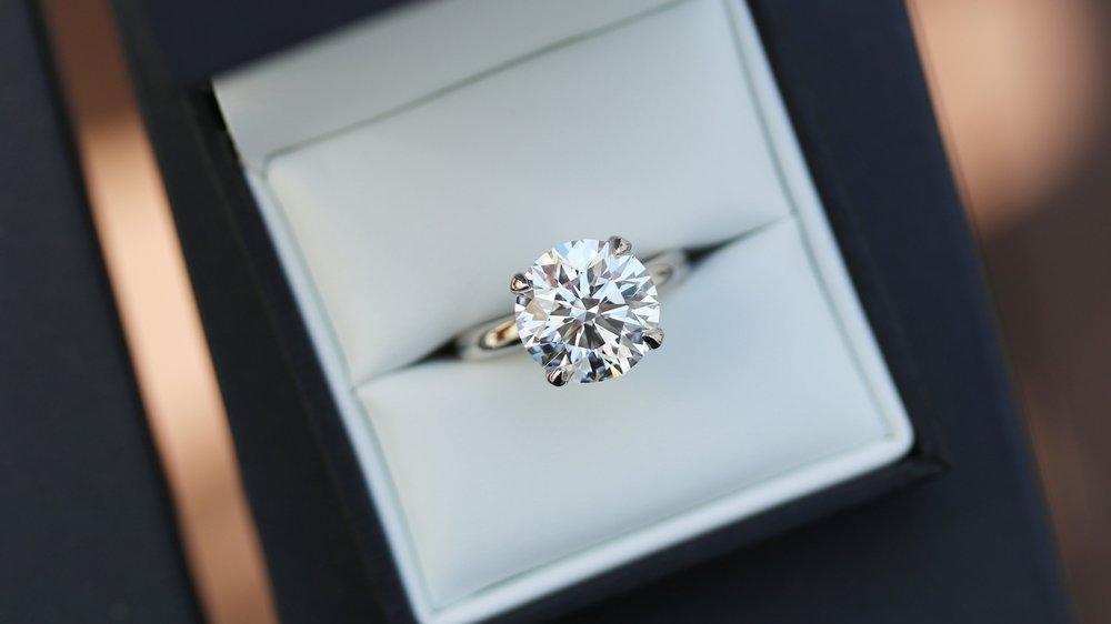 Classic Round Solitaire Lab Created Diamond Engagement Ring in Platinum